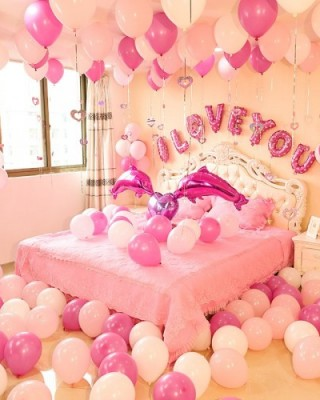 I love you pink decoration